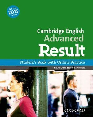 CAMBRIDGE ENGLISH ADVANCED RESULT STB FOR THE 2015 EXAM