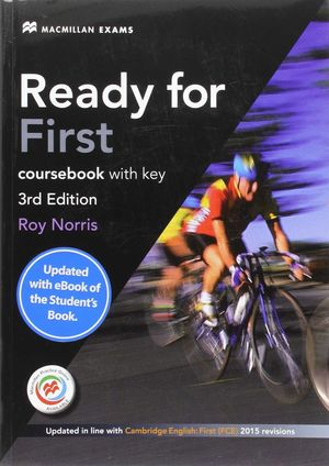 READY FOR FIRST STD.BOOK (+KEY+EBOOK) PK 3RD ED
