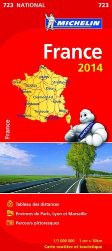 MAPA FRANCIA 2014 ATLAS MICHELIN 723