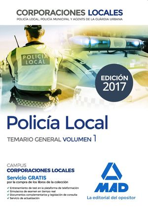POLICIA LOCAL TEMARIO GENERAL VOL.1 2017