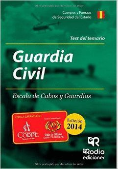 GUARDIA CIVIL ESCALA DE CABOS Y GUARDIAS TEST DEL TEMARIO