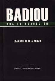 BADIOU: UNA INTRODUCCION