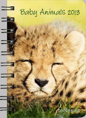 BABY ANIMALS 8.8X13 /13 POCKET DELUXE DIARIES