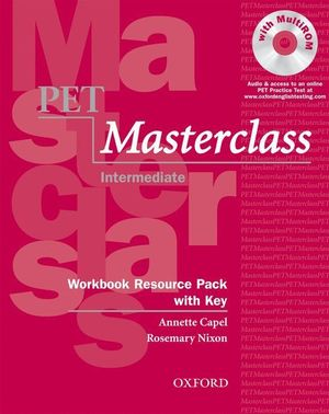 PET MASTERCLASS INTERMEDIATE WORKBOOK WITH ANSWERS + CD