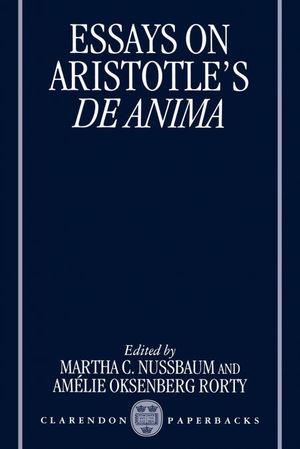 ESSAYS ON ARISTOTLE'S.DE ANIMA