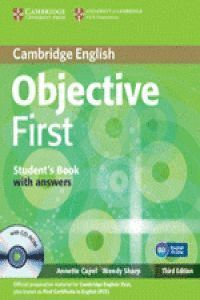 OBJECTIVE FIRST STUDENT'S BOOK WITH ANSWERS WITH CD-ROM 3RD EDITION