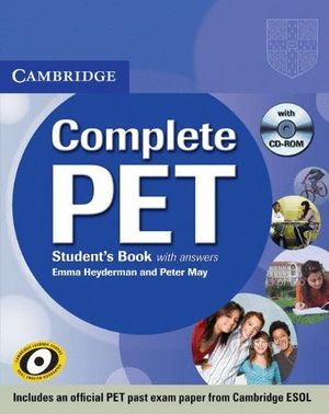 COMPLETE PET STUDENTS BOOK WITH ANWERS + 2 CDS