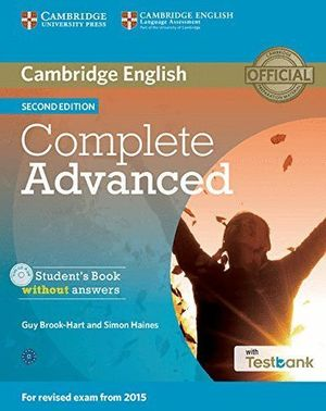 COMPLETE ADVANCED STUDENT¦S BOOK WITHOUT ANSWERS