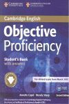 OBJECTIVE PROFICIENCY STUDENT'S BOOK WITH ANSWERS WITH DOWNLOADAB