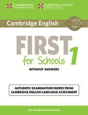 CAMBRIDGE ENGLISH: FIRST (FCE) 1 (2015 EXAM) STUDENT'S BOOK WITH