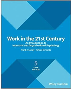 WORK IN THE 21ST CENTURY - 5TH EDITION