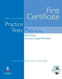 FIRST CERTIFICATE PRACTICE TESTS PLUS WITH KEY +CD