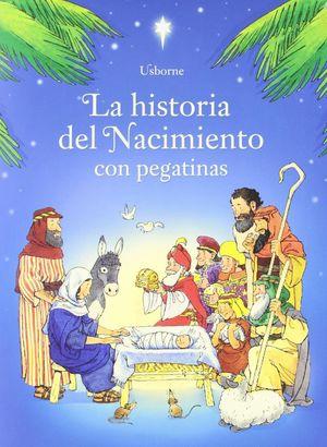 LA HISTORIA DEL NACIMIENTO CON PEGATINAS