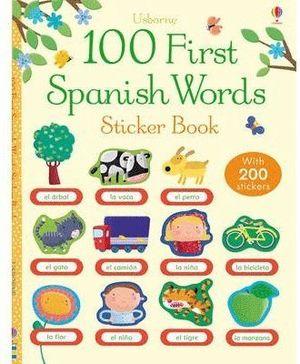 100 FIRST SPANISH WORDS STICKER BOOK