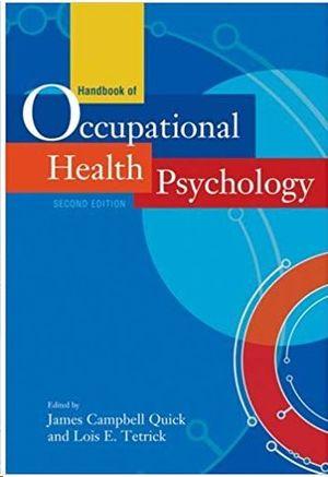 HANDBOOK OF OCCUPATIONAL HEALTH PSYCHOLOGY