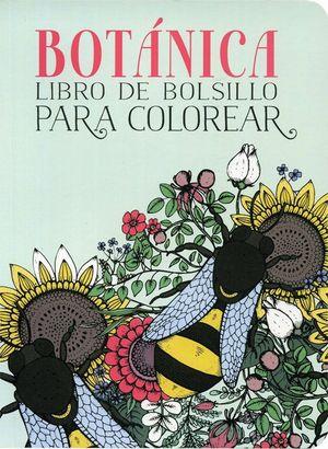BOTANICA LIBRO DE BOLSILLO PARA COLOREAR