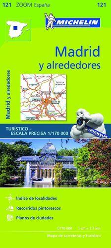 MAPA ZOOM MADRID Y ALREDEDORES 1:170000