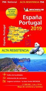 MAPA ESPAÑA PORTUGAL 2019 MICHELIN