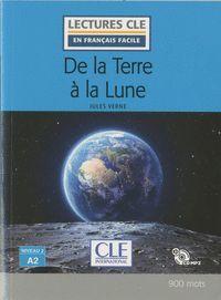 DE LA TERRE À LA LUNE - NIVEAU 2;A2 - LIVRE + CD