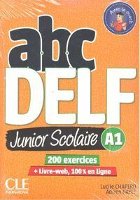 ABC DELF JUNIOR SCOLAIRE A1 + DVD + LIVRE WEB