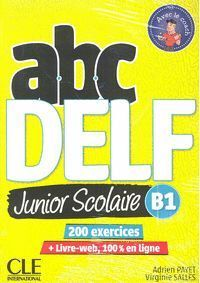 ABC DELF JUNIOR SCOLAIRE B1 + DVD + LIVRE WEB