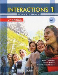 INTERACTIONS 1 - A1.1 - LIVRE + CD - 2º EDITIÓN
