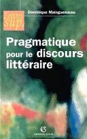 PRAGMATIQUE POUR LE DISCOURS LITTÉRAIRE