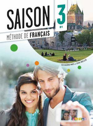 SAISON 3 LIVRE DE L'ELEVE AVEC CD ET DVD