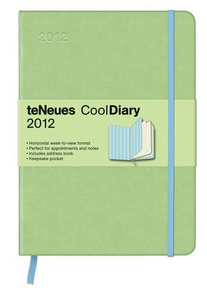 LIGHT GREEN STRIPES BLUE COOL DIARIES WEEKLY 16X22