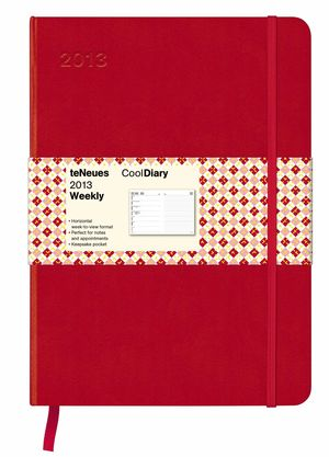 RED / ARGYLE RED 16X22 /13 COOL DIARIES WEEKLY