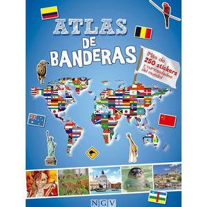 ATLAS DE BANDERAS. CON PEGATINAS