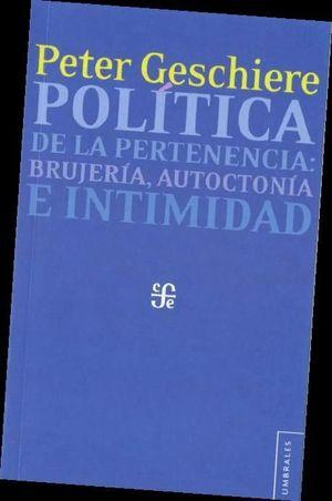 POLÍTICA DE LA PERTENENCIA