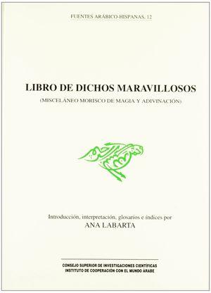 LIBRO DE DICHOS MARAVILLOSOS