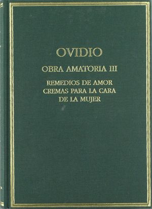 OBRA AMATORIA III REMEDIOS DE AMOR