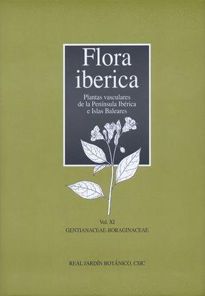 FLORA IBÉRICA. VOL. XI. GENTIANACEAE-BORAGINACEAE