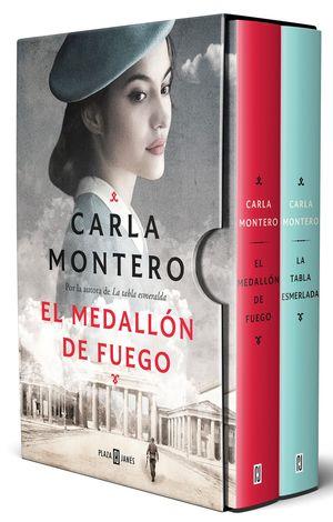 PACK CARLA MONTERO CON: EL MEDALLÓN DE FUEGO  LA TABLA ESMERALDA