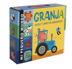 GRANJA PUZLE Y LIBRO DE ADHESIVOS (MALETA)