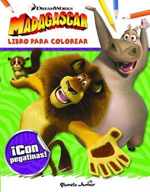 MADAGASCAR LIBRO PARA COLOREAR