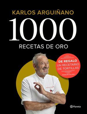 1000 RECETAS DE ORO PACK REGALO LIBRO TORTILLAS