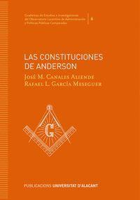LAS CONSTITUCIONES DE ANDERSON