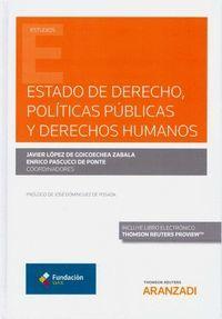 ESTADO DE DERECHO, POLÍTICAS PÚBLICAS Y DERECHOS HUMANOS (DÚO