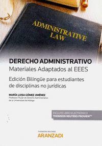 DERECHO ADMINISTRATIVO MATERIALES ADAPTADOS AL EEES (DÚO)