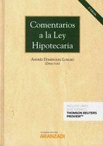 COMENTARIOS A LA LEY HIPOTECARIA (DÚO)