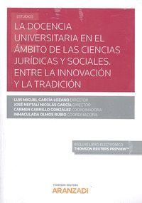 LA DOCENCIA UNIVERSITARIA EN EL AMBITO DE LAS CIENCIAS JURIDICAS Y SOCIALES