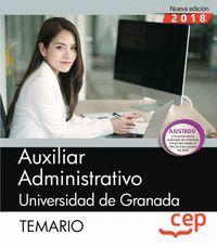 AUXILIAR ADMINISTRATIVO UNIVERSIDAD DE GRANADA TEMARIO2018