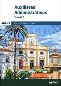 TEMARIO 2 AUXILIARES ADMINISTRATIVOS DE CORPORACIONES LOCALES