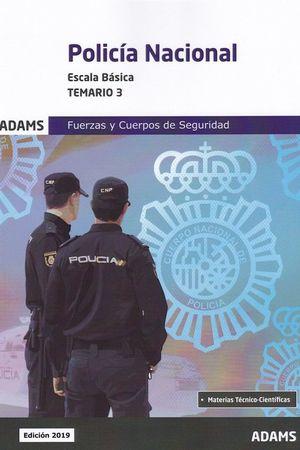 POLICÍA NACIONAL TEMARIO 3 2019 ESCALA BÁSICA