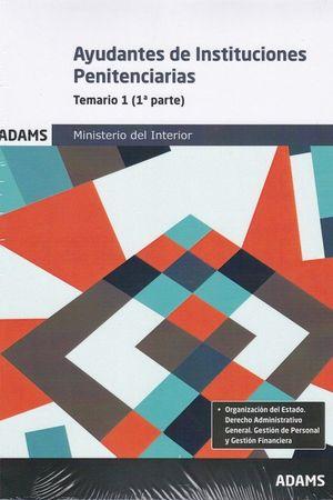 AYUDANTES DE INSTITUCIONES PENITENCIARIAS (2 VOLS.) 2019 MINISTERIO INTERIOR