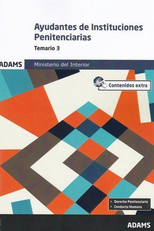AYUDANTES DE INSTITUCIONES PENITENCIARIAS TEMARIO 3 2019 MINISTERIO INTERIOR