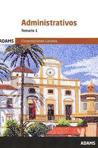 ADMINISTRATIVOS TEMARIO 1 (CORPORACIONES LOCALES 2020)